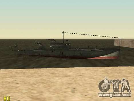 Torpedo boat type G-5 for GTA San Andreas upper view