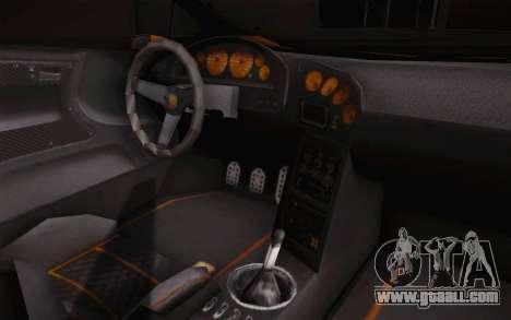 Zentorno из GTA 5 for GTA San Andreas back view