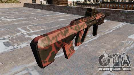 Machine Steyr AUG-A3 Red tiger for GTA 4 second screenshot