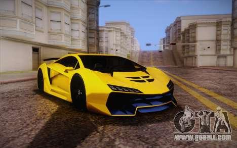 Zentorno из GTA 5 for GTA San Andreas