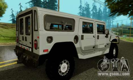 Hummer H1 Alpha for GTA San Andreas bottom view
