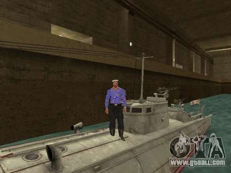 Torpedo boat type G-5 for GTA San Andreas bottom view