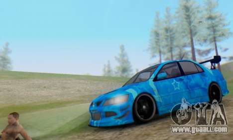 Mitsubishi Lancer Evolution IIIX Blue Star for GTA San Andreas left view