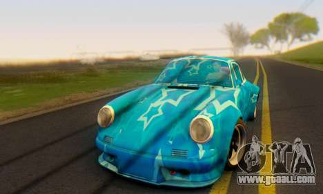 Porsche 911 Blue Star for GTA San Andreas left view
