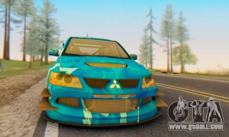 Mitsubishi Lancer Evolution IIIX Blue Star for GTA San Andreas right view