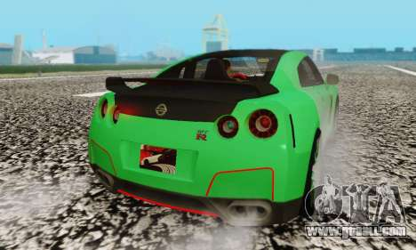 Nissan GTR Streets Edition for GTA San Andreas back view