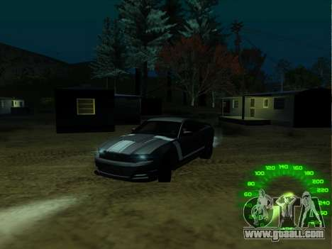 The speedometer in the style of a neon for GTA San Andreas second screenshot
