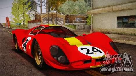 Ferrari 330 P4 1967 IVF for GTA San Andreas interior