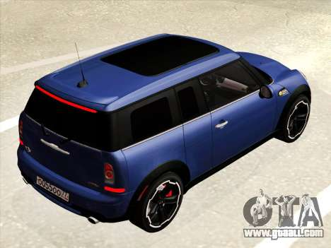 Mini Cooper Clubman JCW for GTA San Andreas inner view