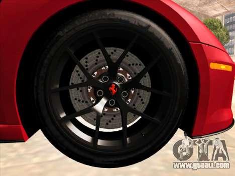 Ferrari 599 GTO for GTA San Andreas inner view