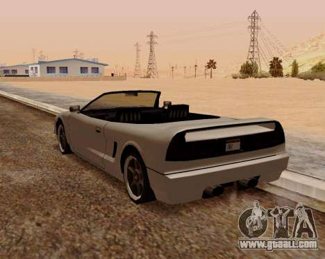 Infernus Convertible for GTA San Andreas back left view