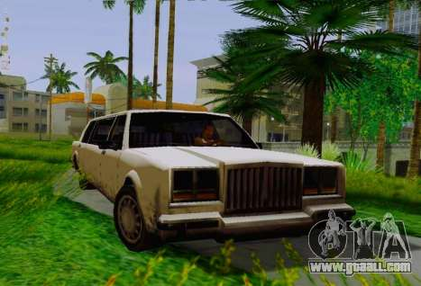 Greenwood Limousine for GTA San Andreas right view