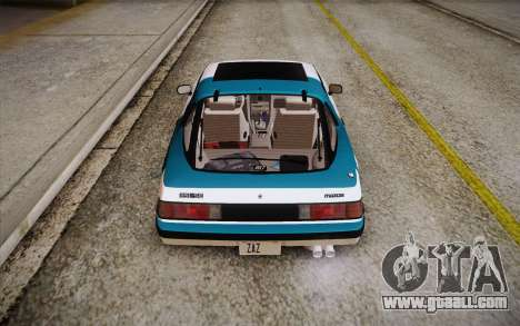 Mazda RX-7 GSL-SE 1985 HQLM for GTA San Andreas engine