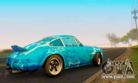 Porsche 911 Blue Star for GTA San Andreas right view
