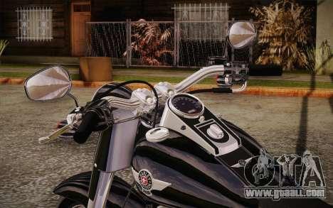 Harley-Davidson Fat Boy Lo 2010 for GTA San Andreas back view