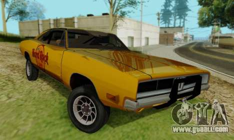 Dodge Charger 1969 Hard Rock Cafe for GTA San Andreas right view