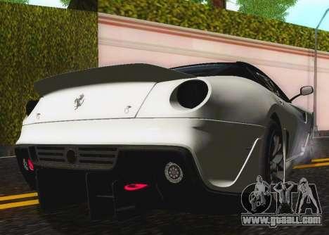 Ferrari 599XX Evolution for GTA San Andreas inner view