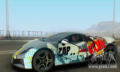 GTA Spano 2014 IVF for GTA San Andreas bottom view