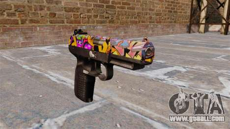Gun FN Five seveN Graffitti for GTA 4