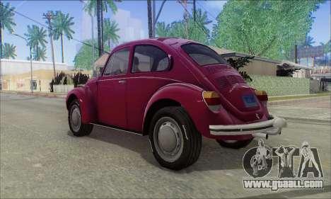1973 Volkswagen Beetle for GTA San Andreas left view