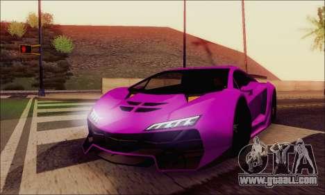 Zentorno GTA 5 V.1 for GTA San Andreas interior