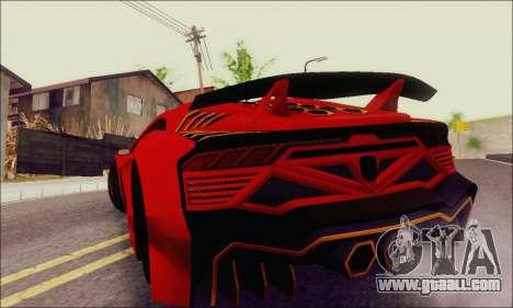 Zentorno GTA 5 V.1 for GTA San Andreas upper view