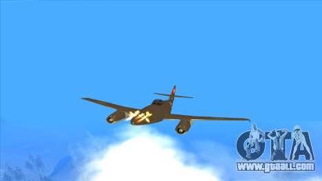 Messerschmitt Me.262 Schwalbe for GTA San Andreas upper view