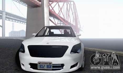 Karin Asterope V1.0 for GTA San Andreas inner view