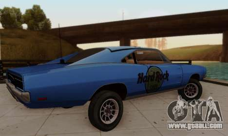 Dodge Charger 1969 Hard Rock Cafe for GTA San Andreas side view