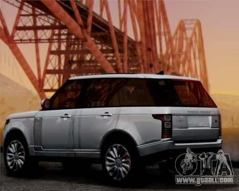 Range Rover Vogue 2014 for GTA San Andreas back left view