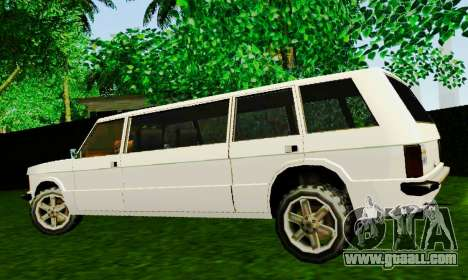 Huntley Limousine for GTA San Andreas left view