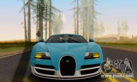 Bugatti Veyron Super Sport 2011 for GTA San Andreas left view