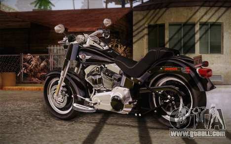 Harley-Davidson Fat Boy Lo 2010 for GTA San Andreas left view