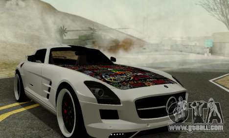 Mercedes SLS AMG Hamann 2010 Metal Style for GTA San Andreas