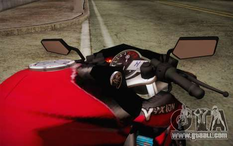 Yamaha V-Ixion 2014 for GTA San Andreas inner view