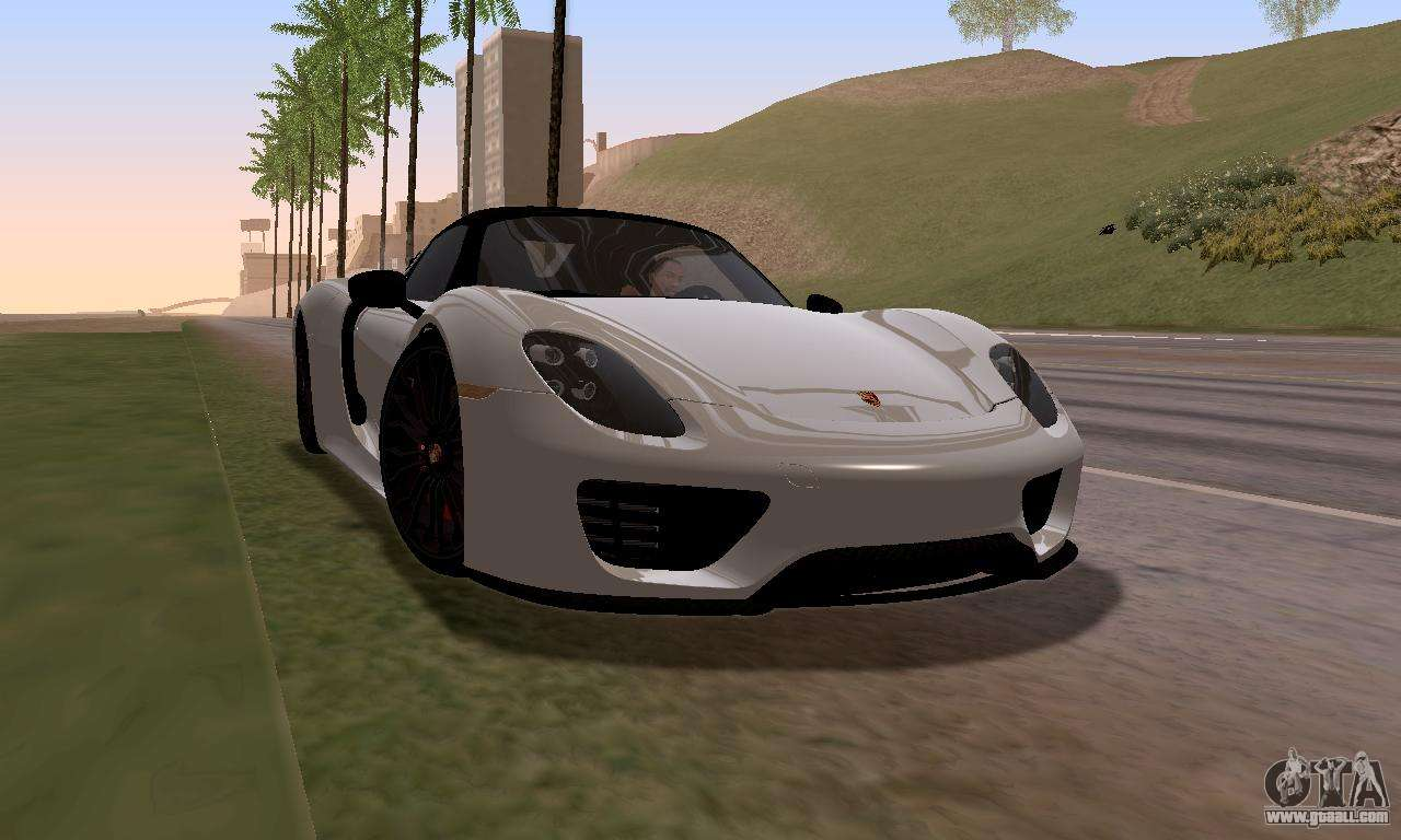 porsche 918 2013 for gta san andreas. Black Bedroom Furniture Sets. Home Design Ideas