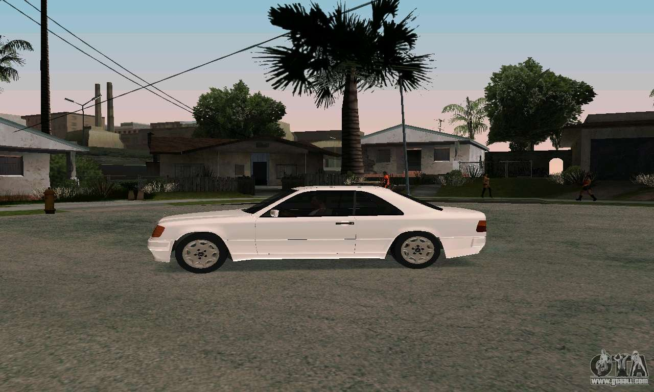 mercedes benz w124 coupe for gta san andreas. Black Bedroom Furniture Sets. Home Design Ideas
