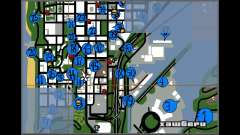 Hidden Photos Map for GTA San Andreas
