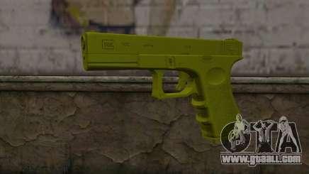 Golden Glock 18C for GTA San Andreas