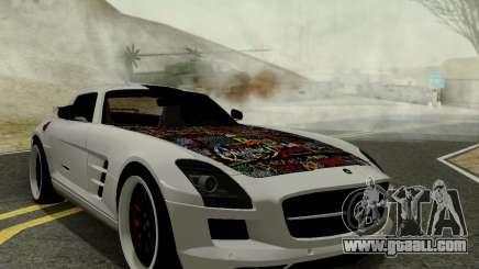 Mercedes SLS AMG Hamann 2010 Metal Style for GTA San Andreas