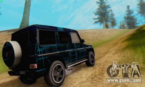 Mercedes-Benz G65 Black Square Pattern for GTA San Andreas back left view