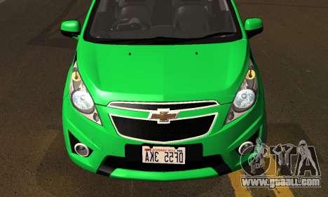 Chevrolet Spark 2011 for GTA San Andreas inner view