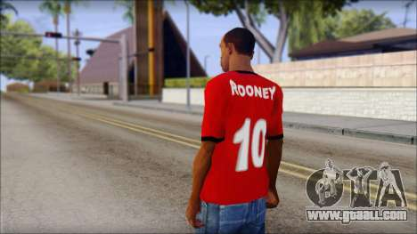 Manchester United 2013 T-Shirt for GTA San Andreas second screenshot