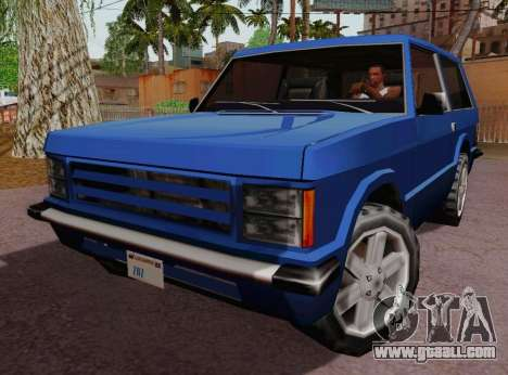 Huntley Coupe for GTA San Andreas left view