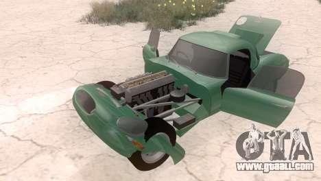 Jaguar E-Type for GTA San Andreas right view