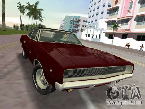 Dodge Charger RT 426 1968 for GTA Vice City right view