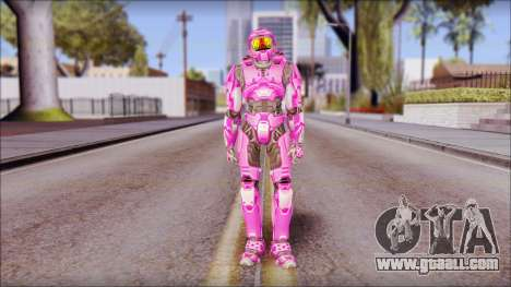 Masterchief Pink from Halo for GTA San Andreas second screenshot