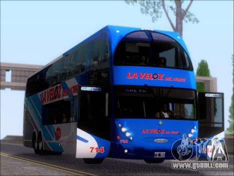 Metalsur Starbus DP 1 6x2 - La Veloz del Norte for GTA San Andreas side view