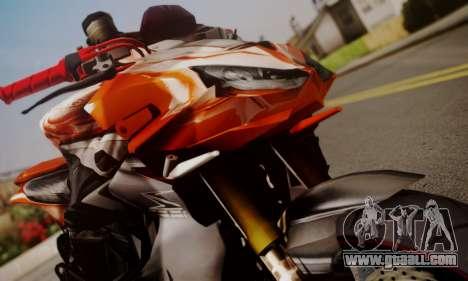 Kawasaki Z1000 2014 for GTA San Andreas back left view