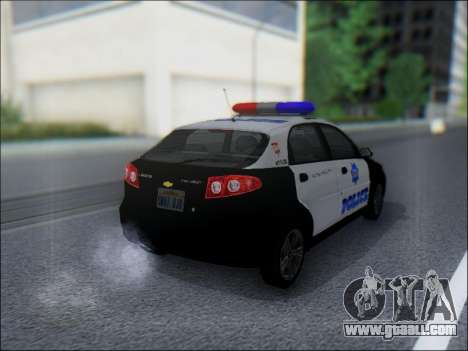 Chevrolet Lacetti Police for GTA San Andreas right view
